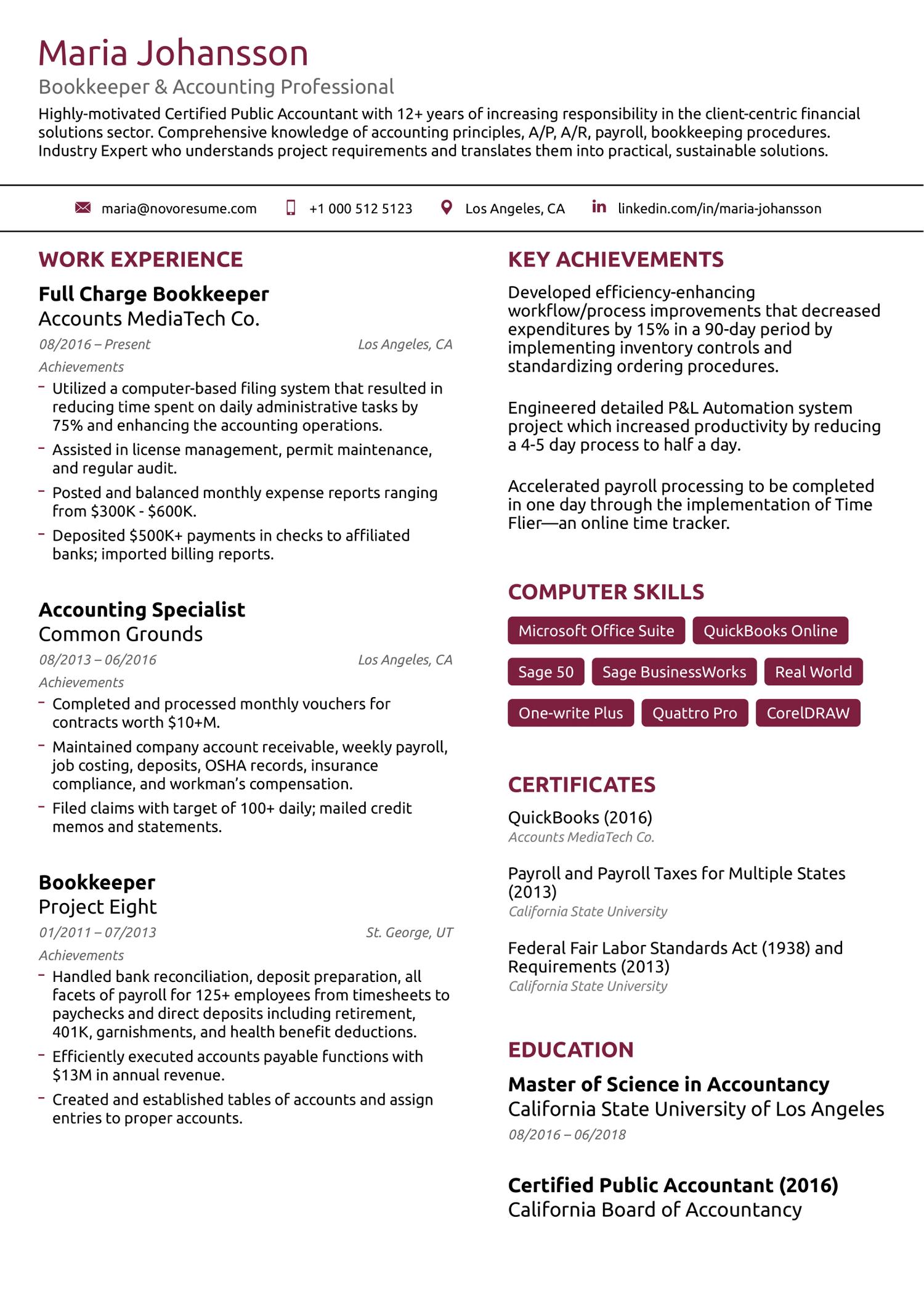basic ats resume template