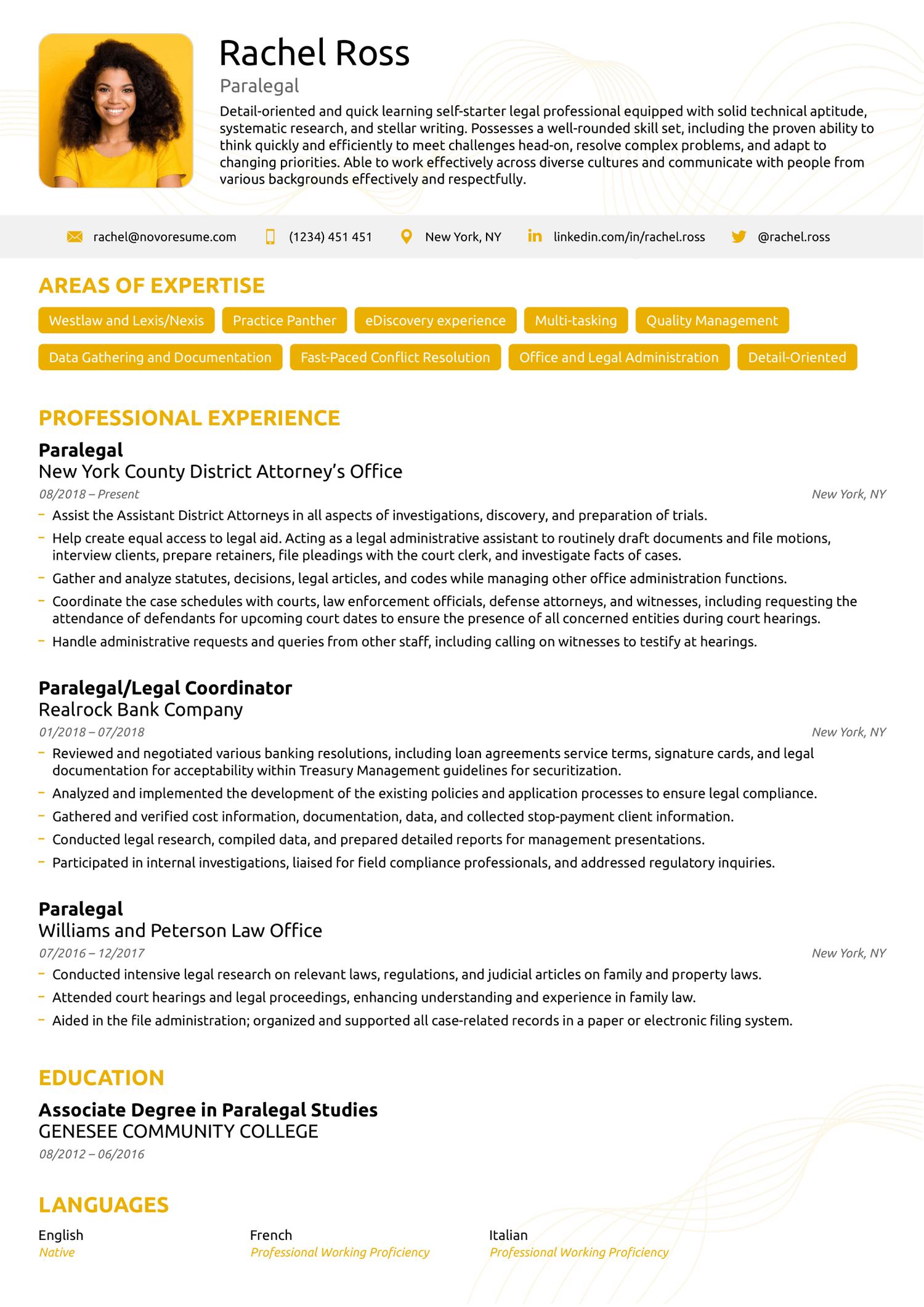 executive ats resume template
