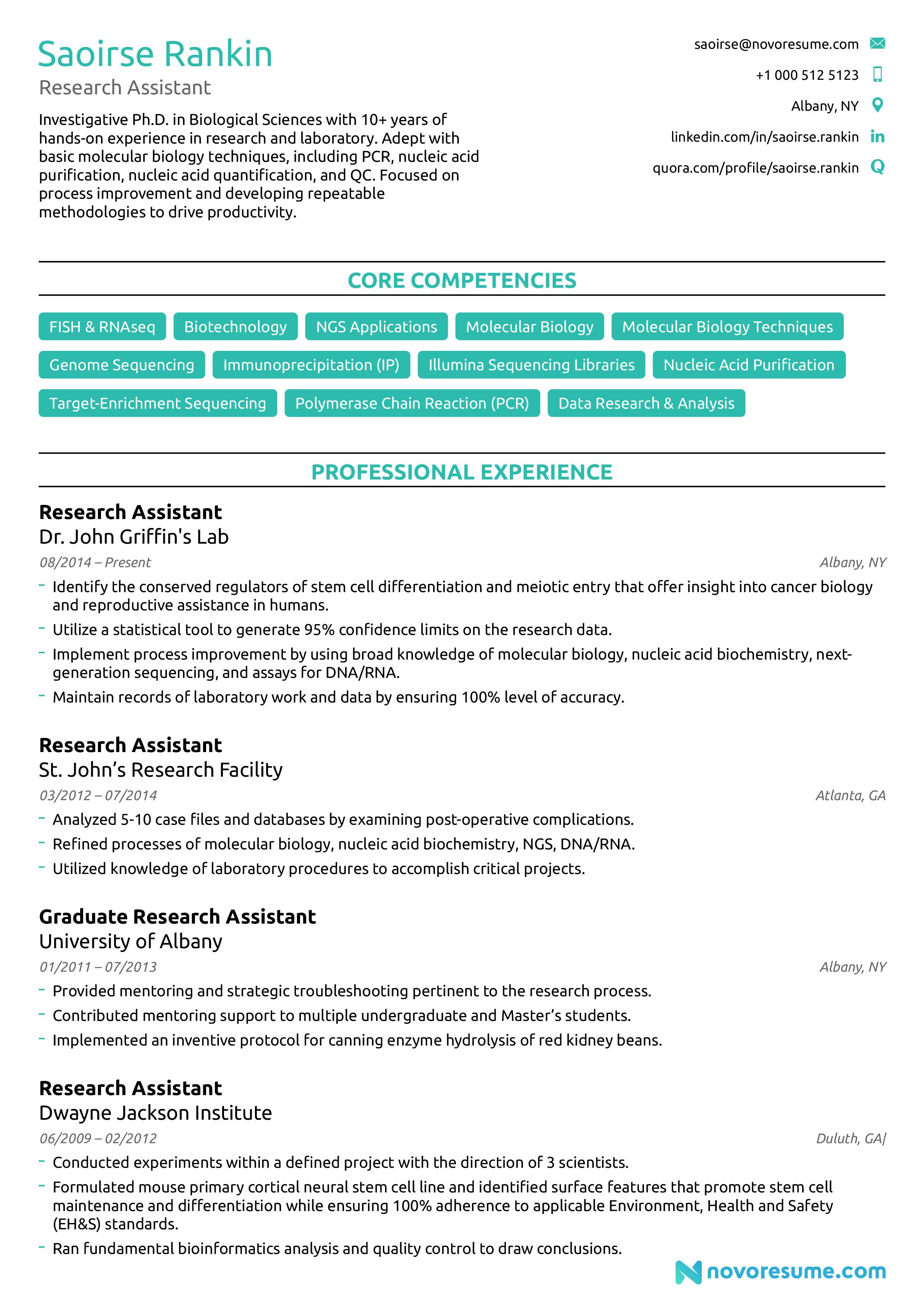 college australian resume template