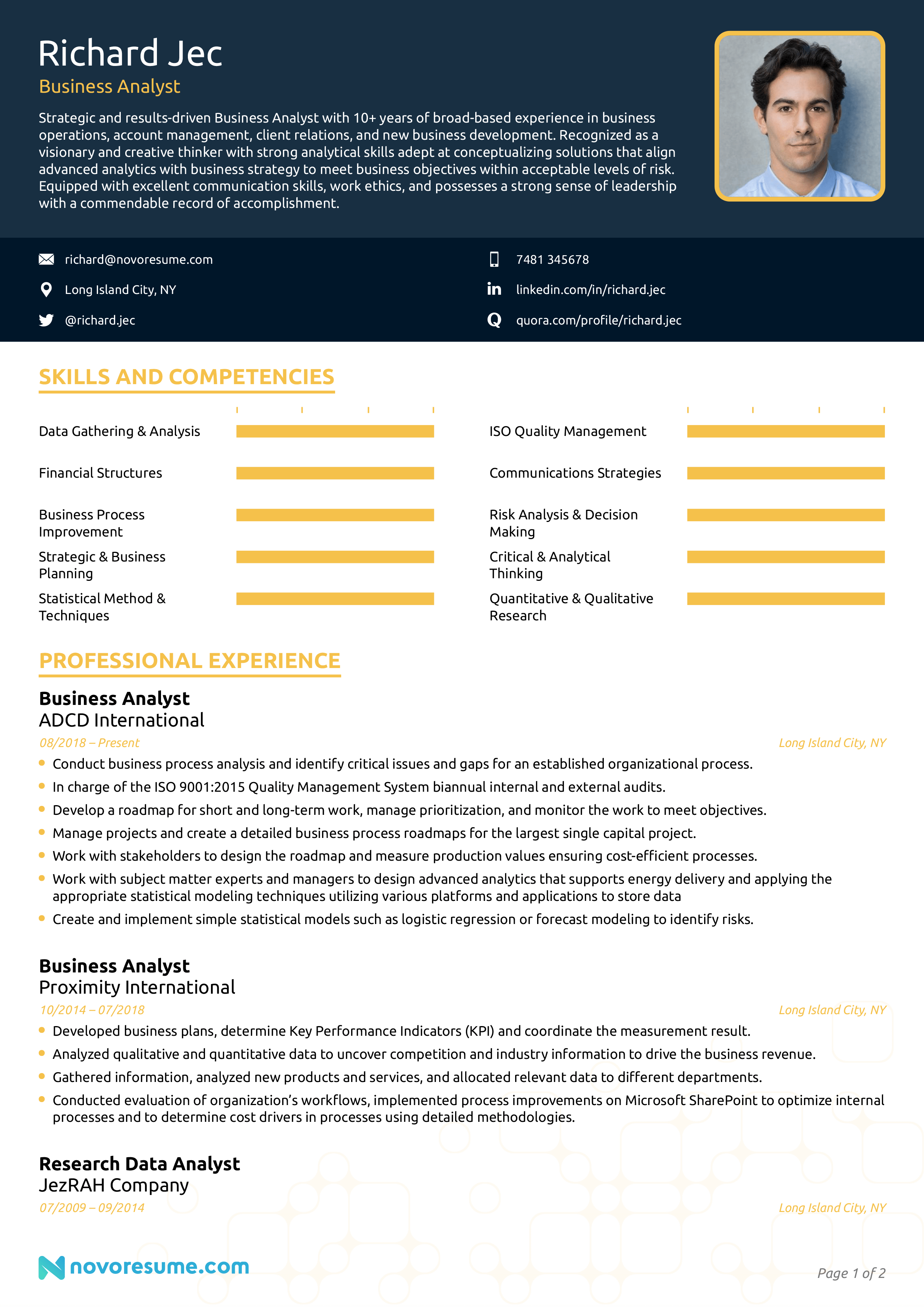 Business analyst resume india resume templates for communications majors