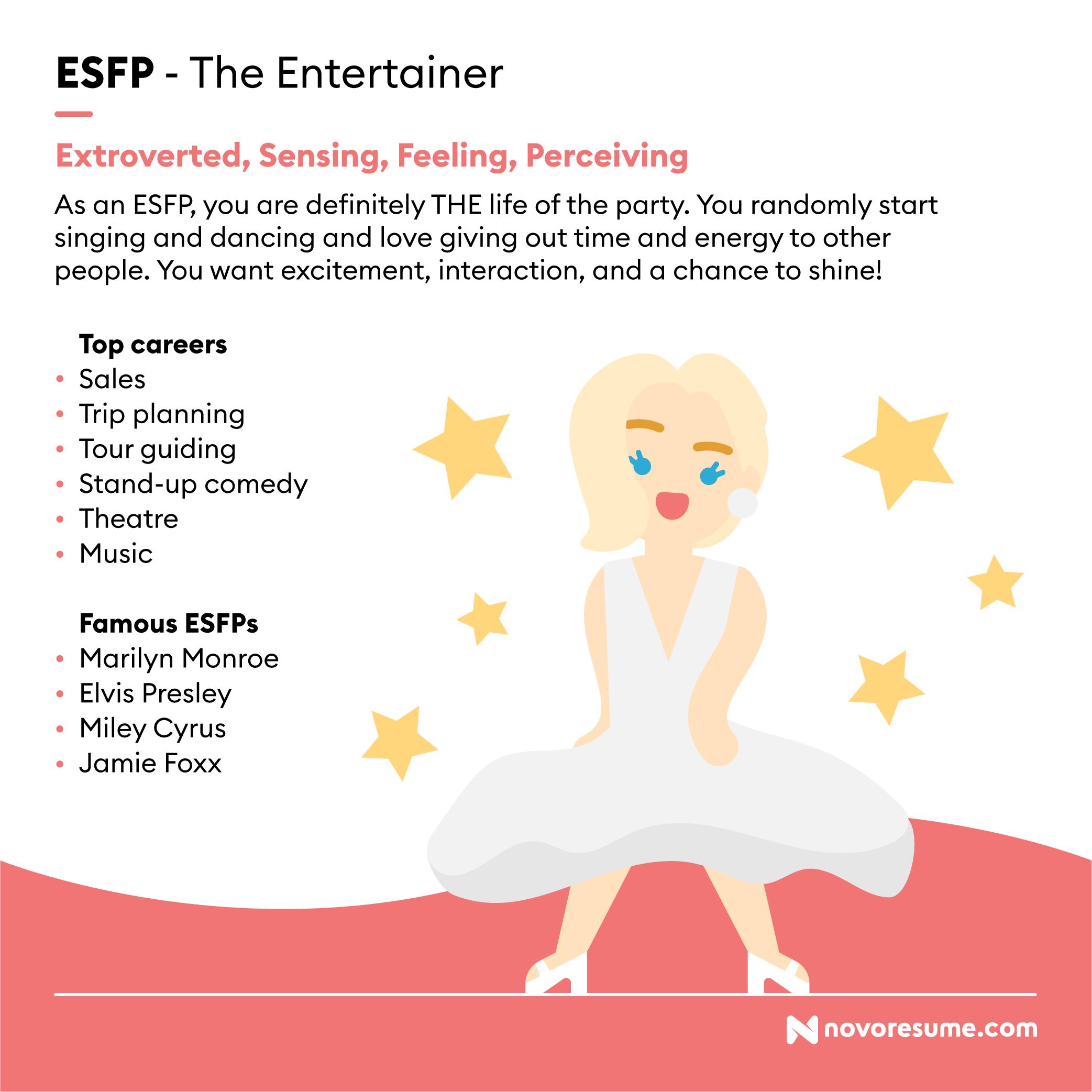 ESFP The Entertainer