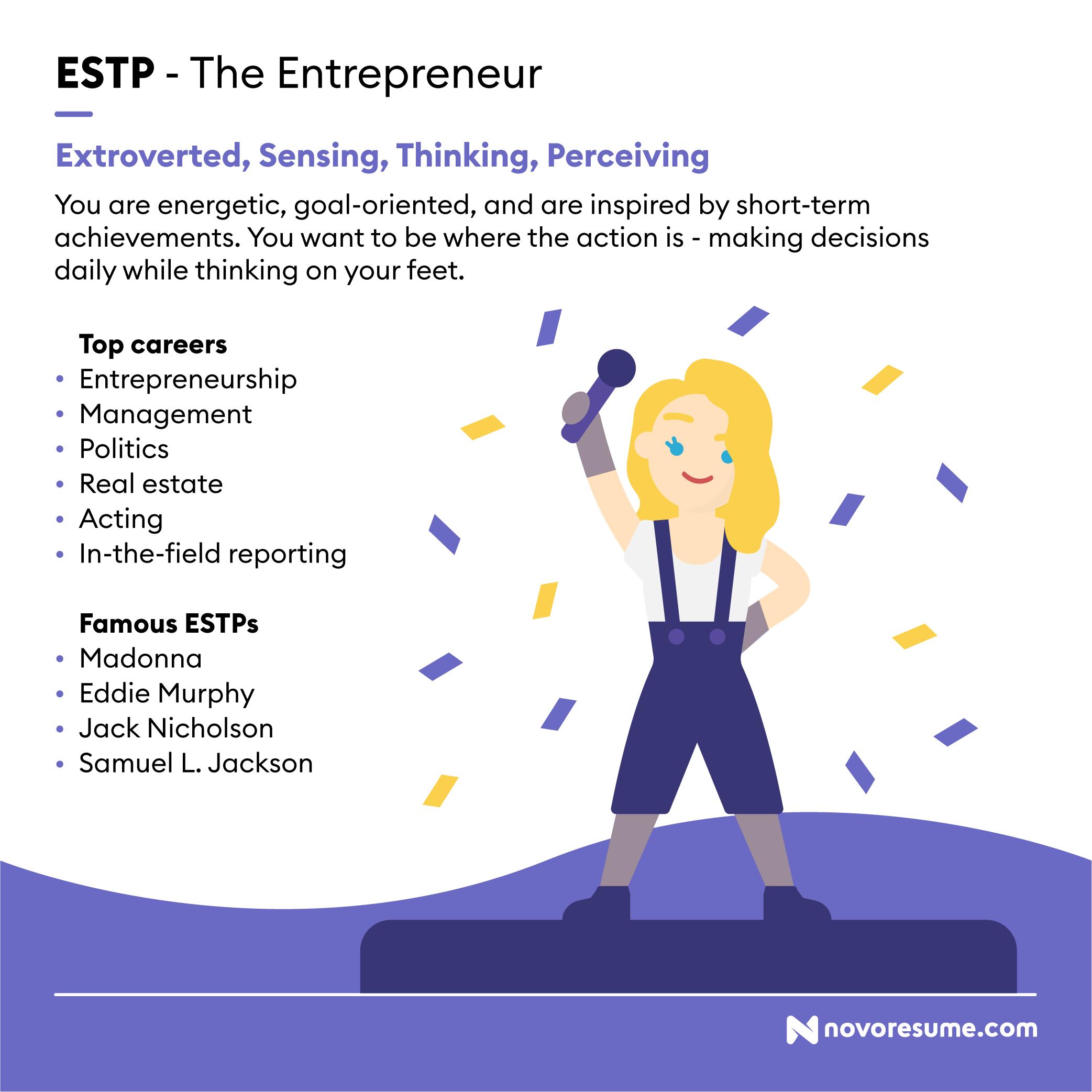 ESTP The Entrepreneur