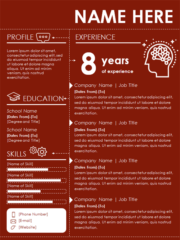 Infographic Resume Template by Microsoft