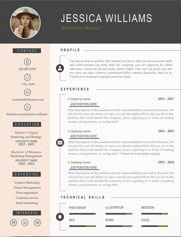 creative but professional resume templates