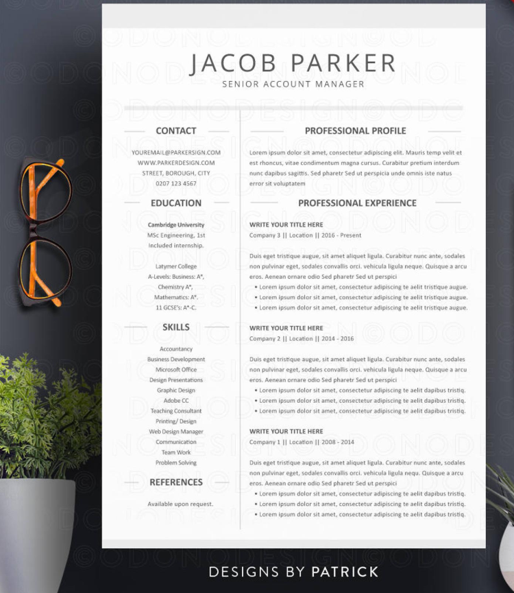 creative resume template by odonodesign