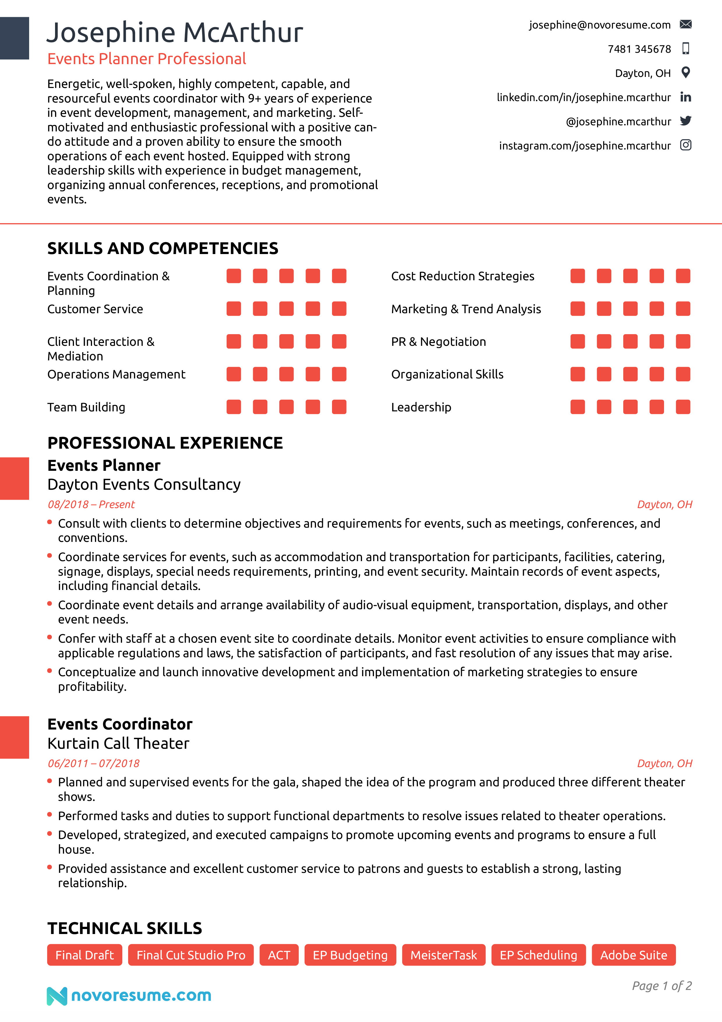 Resume for event coordinator objective vladimir nabokov perfect past essay