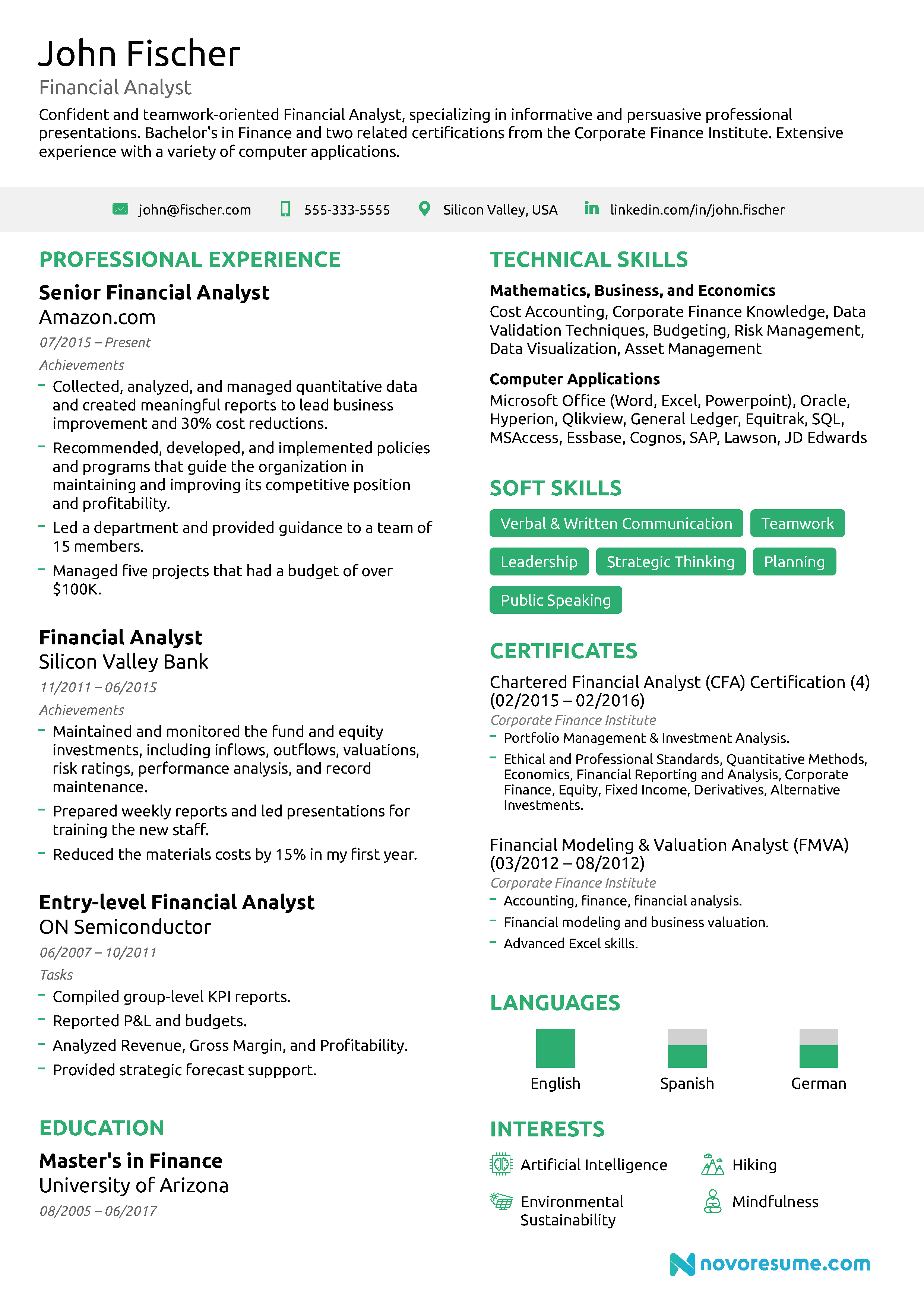 financial analyst resume  the ultimate 2019 guide