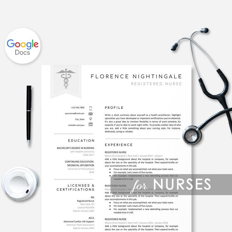 Nurse Google Docs Resume Template