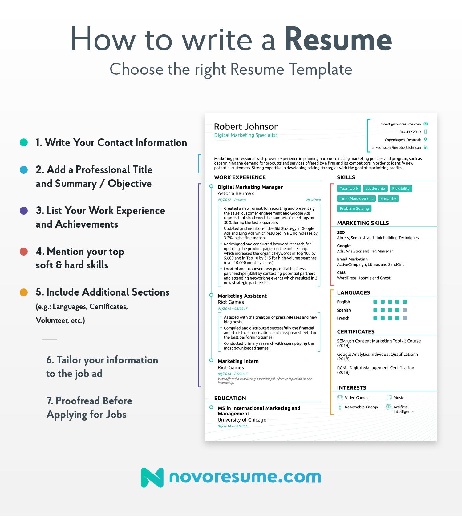 how to write an internship resume