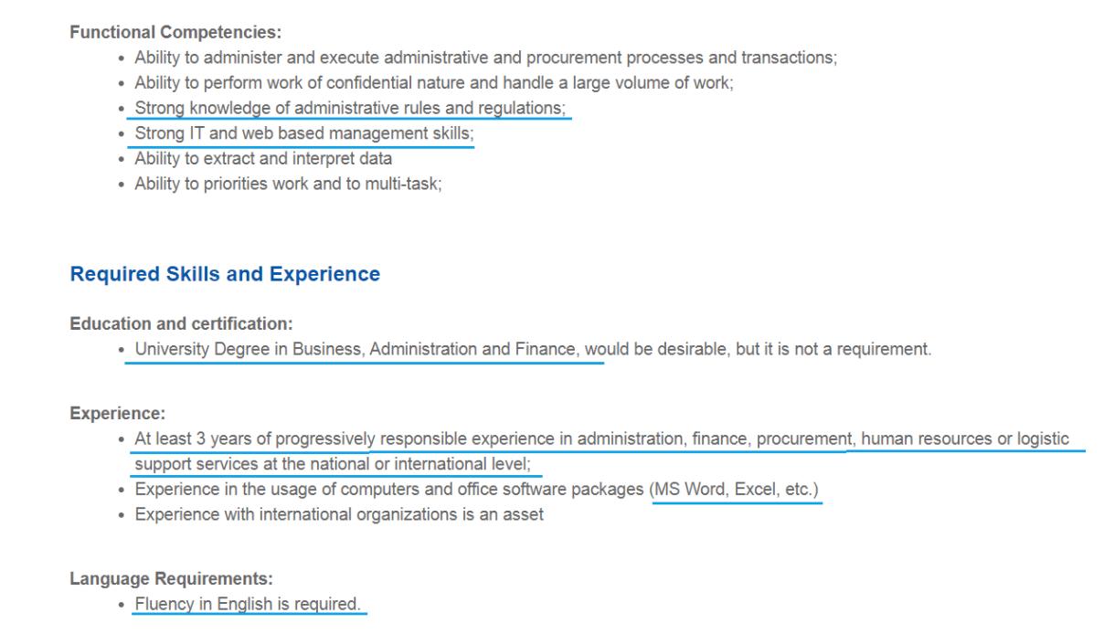 job ad example