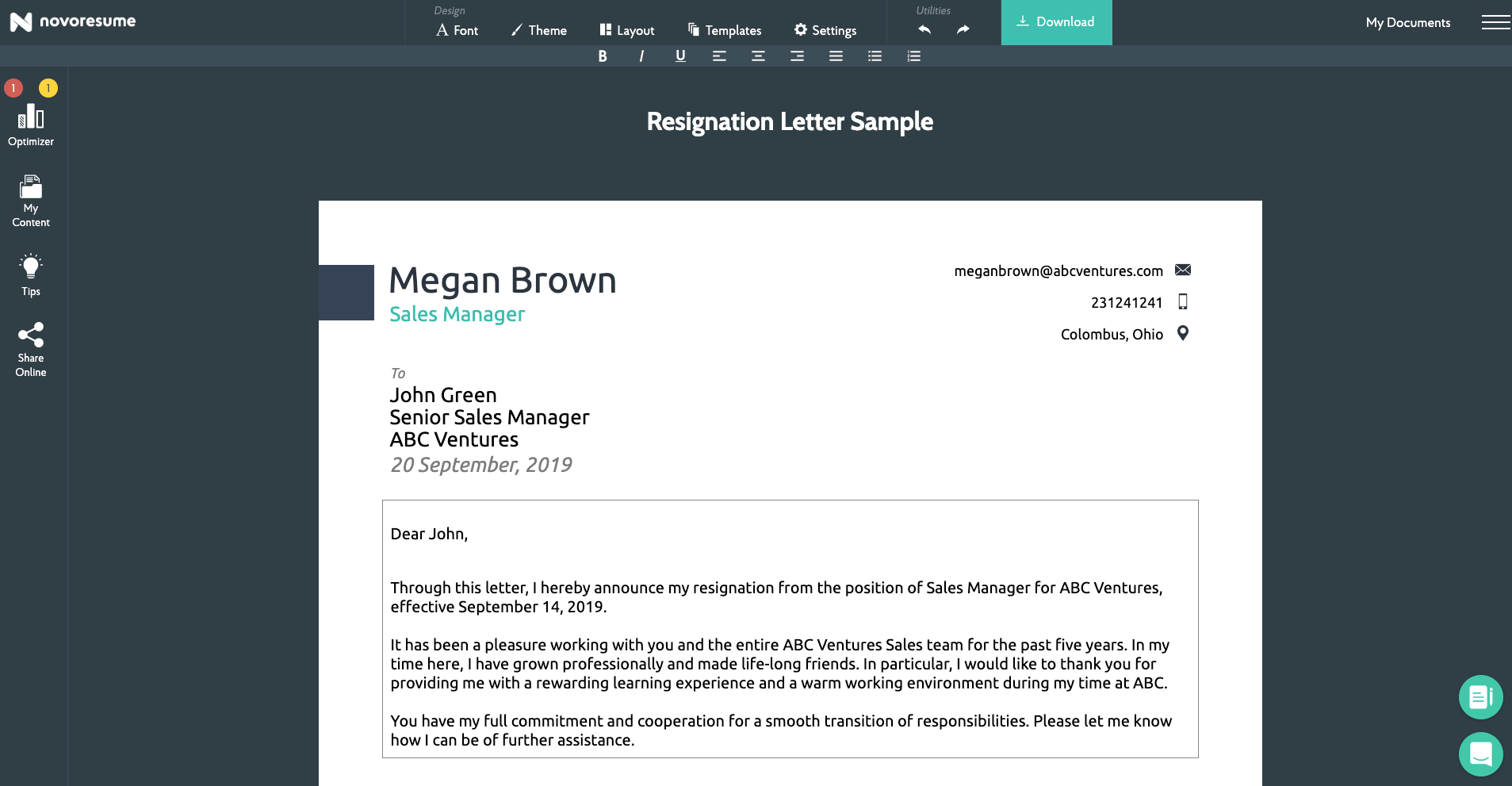 how to write a resignation letter sample