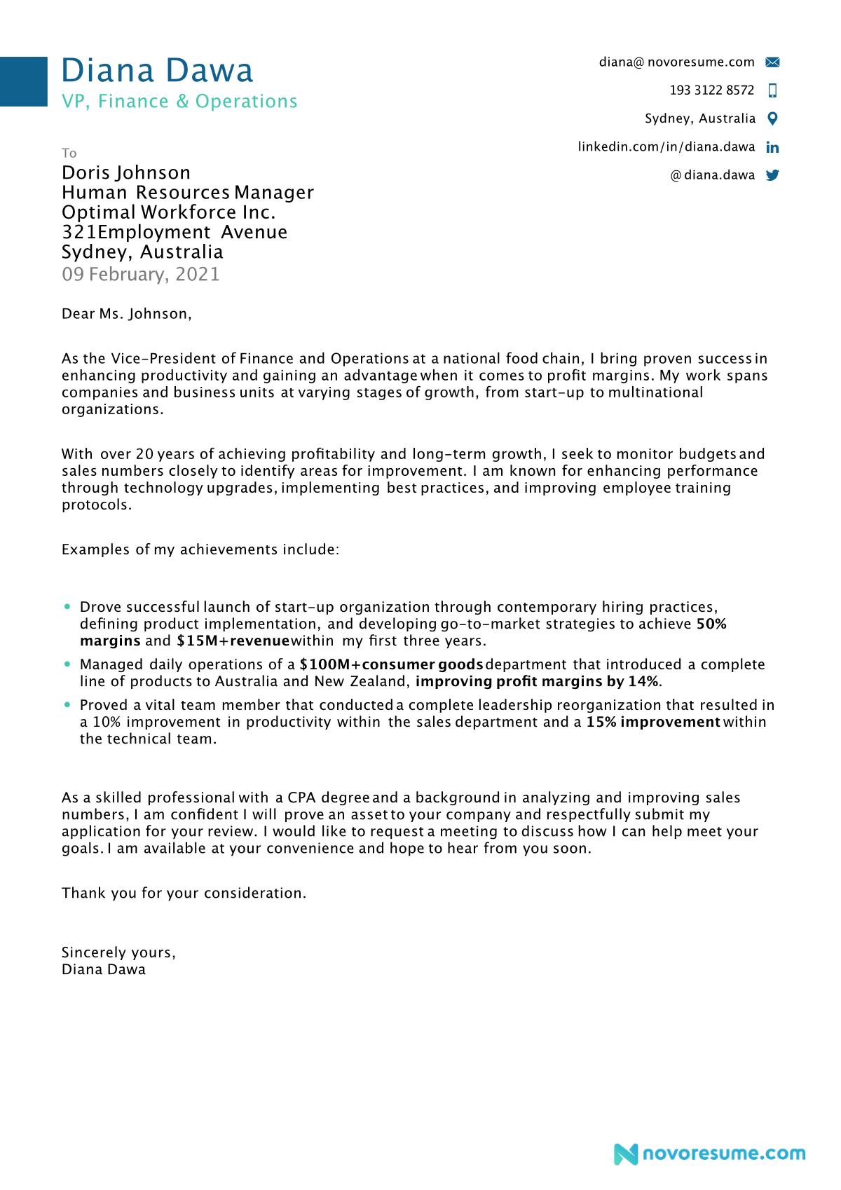 cover letter for job hunt