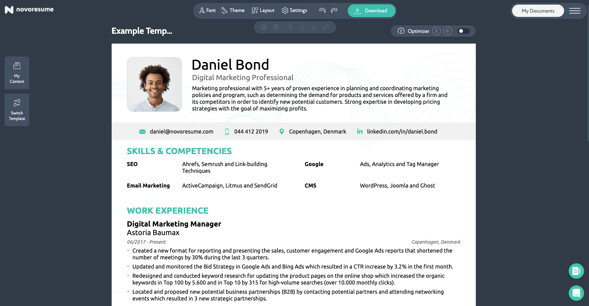 job search resume builder
