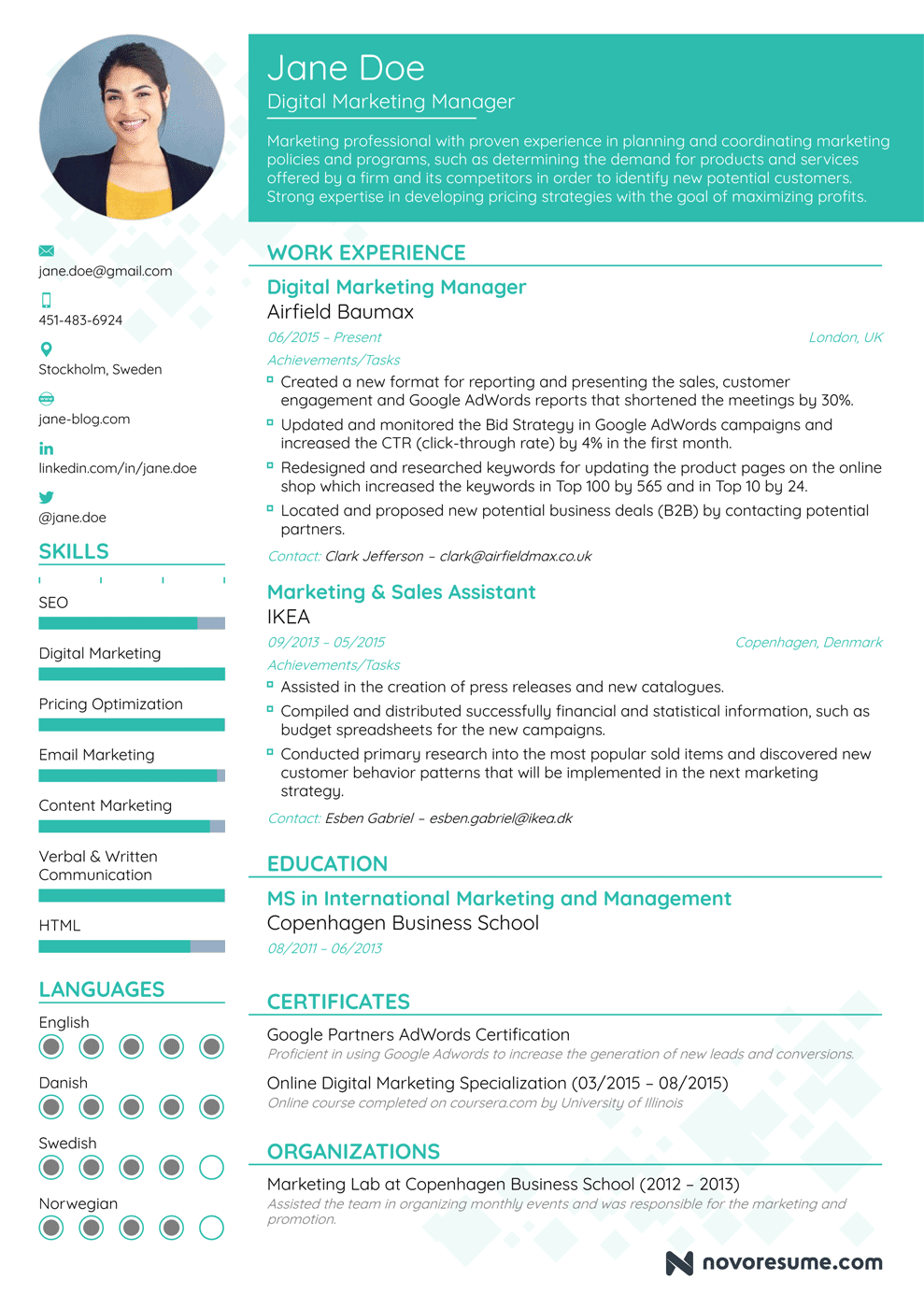 Marketing Manager Resume Example - Update Yours Now for 2019