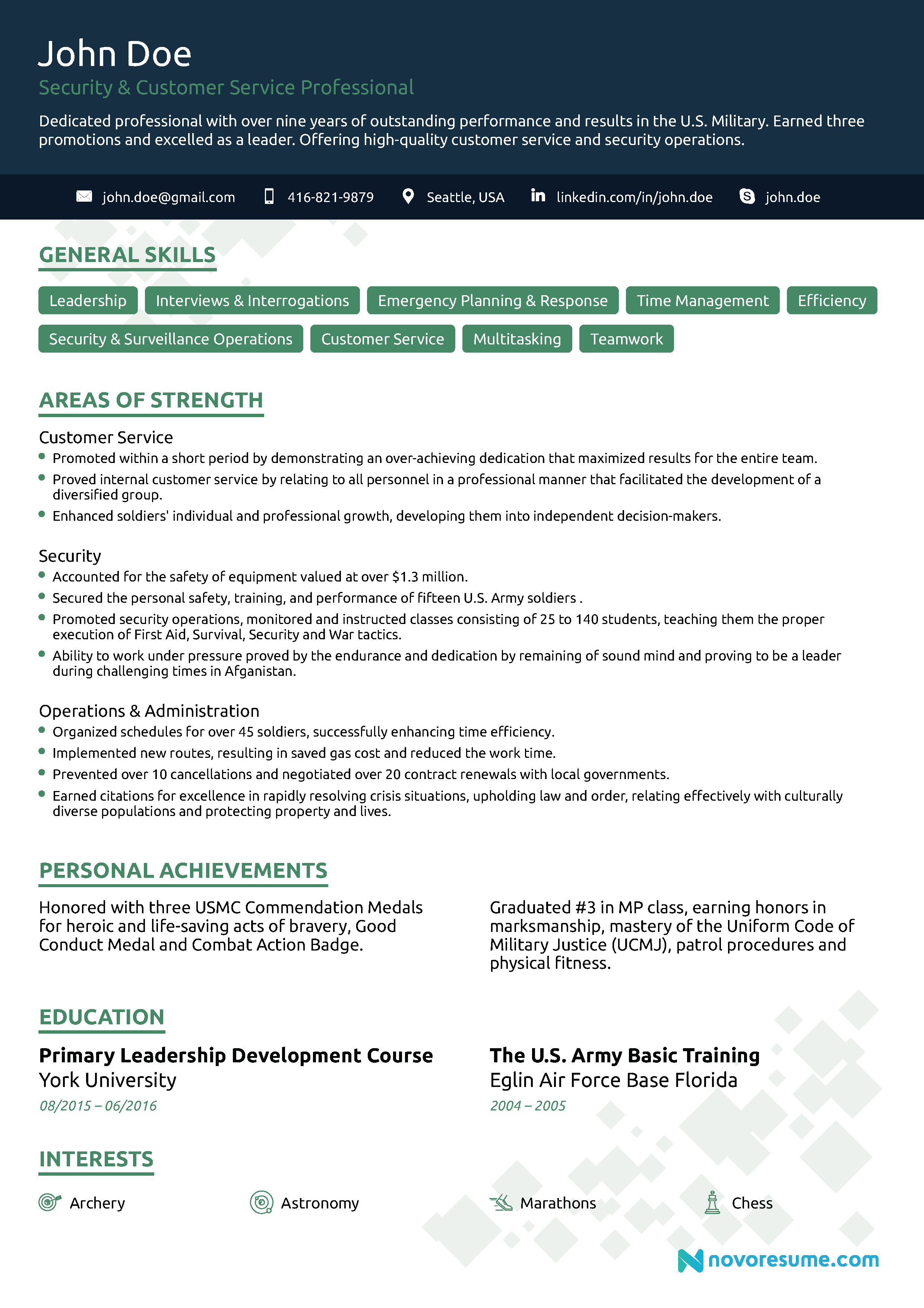 Civilian resume with military experience samples of student nurse resume