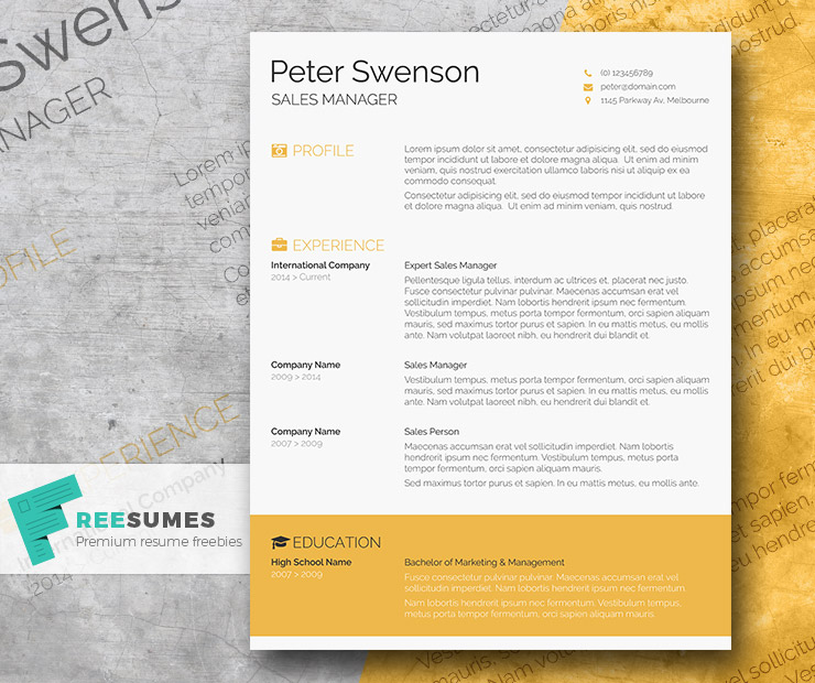 one page microsoft word resume template
