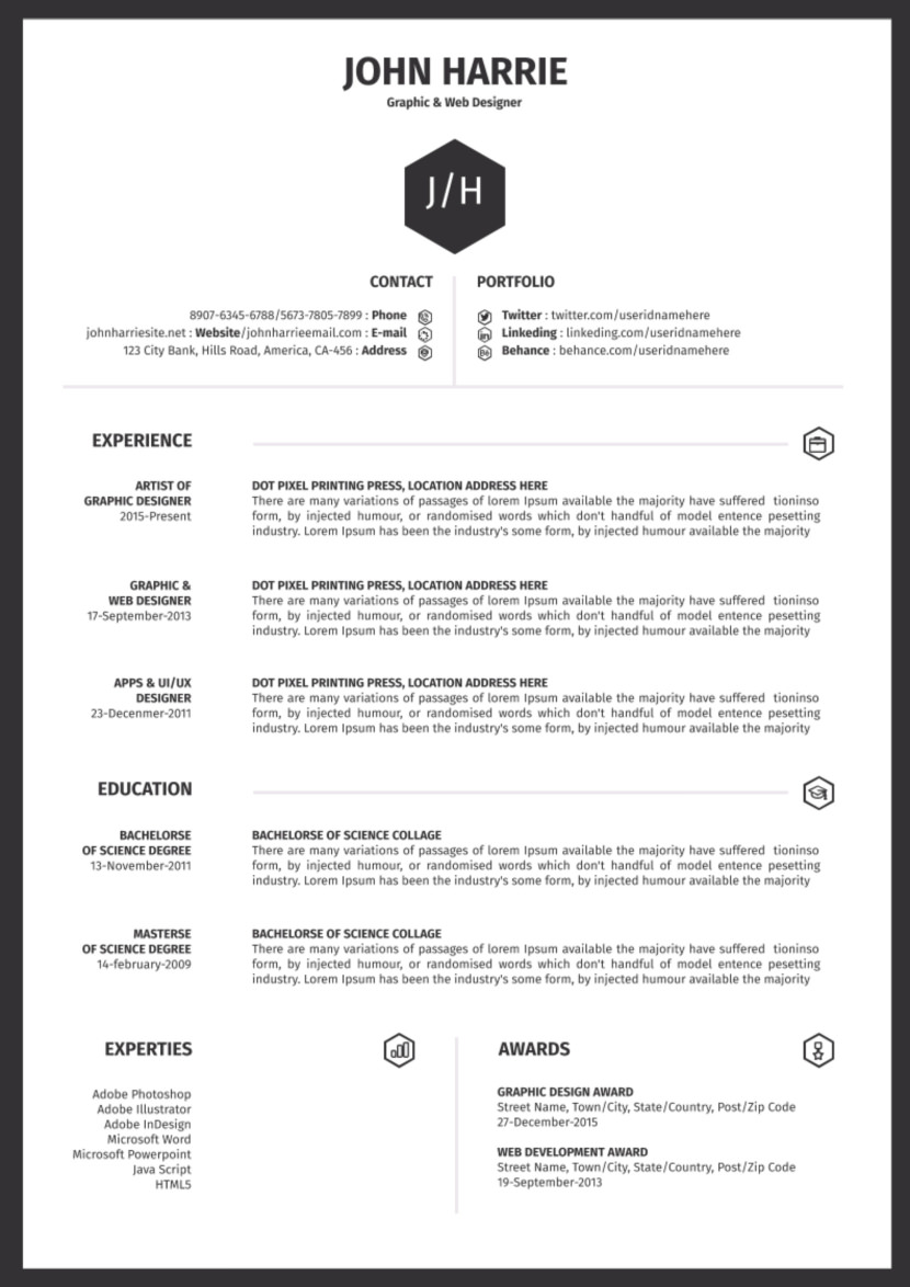 simple one page google doc resume