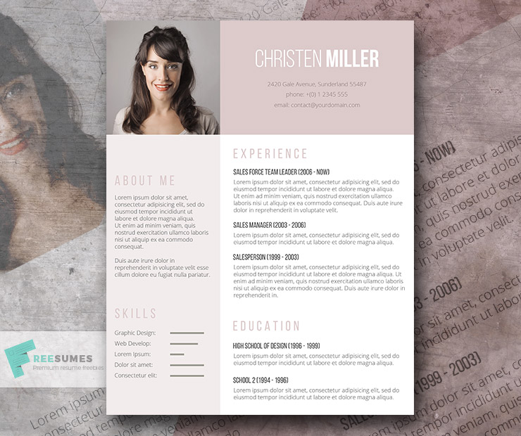 vintage one page resume template