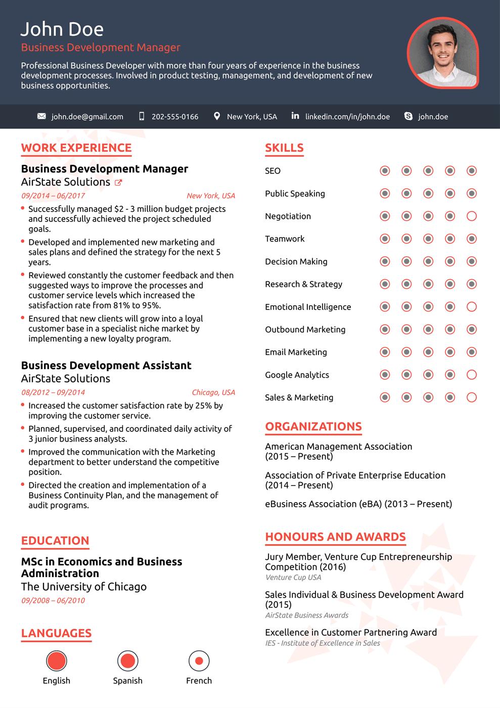 creative resume format