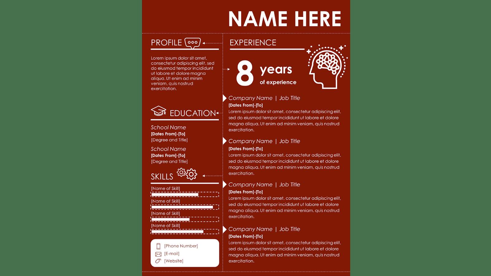 infographic word resume