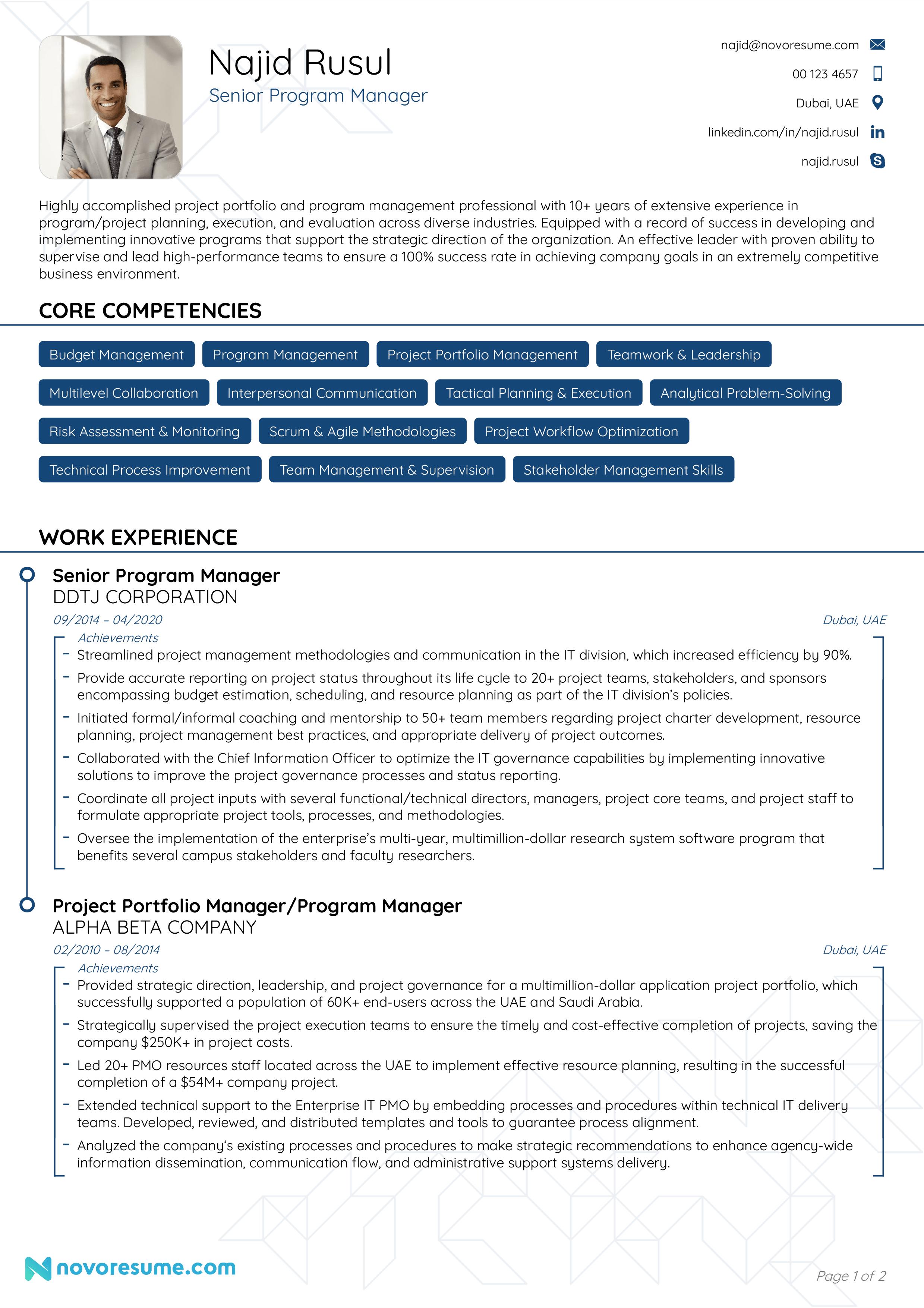 Program management resume template essay about christopher columbus as a villain