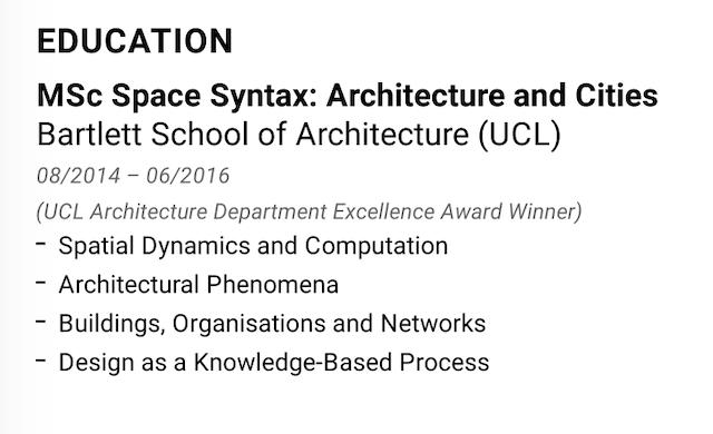 education resume layout