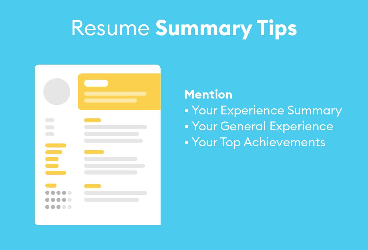 resume summary tips