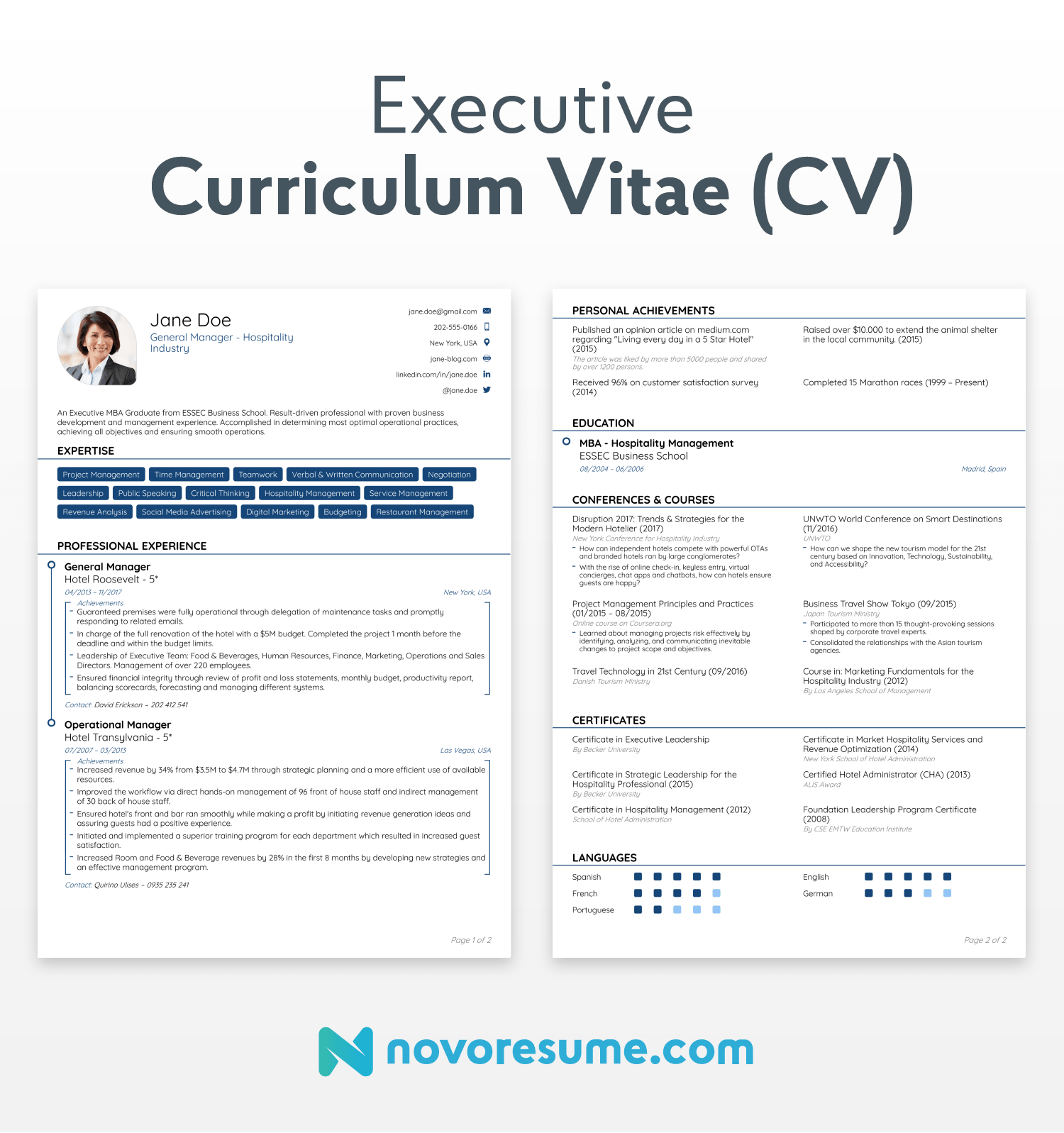 traditional cv structure