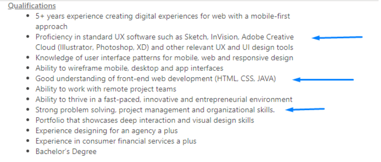 example of job ad