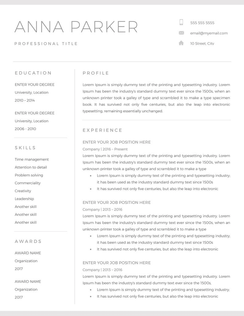 21+ Free Word Resume Templates [Download Now] Within How To Find A Resume Template On Word