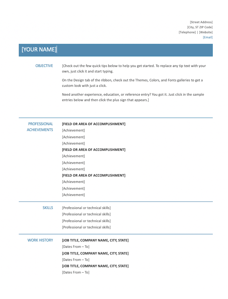 21+ Free Word Resume Templates [Download Now] For How To Find A Resume Template On Word