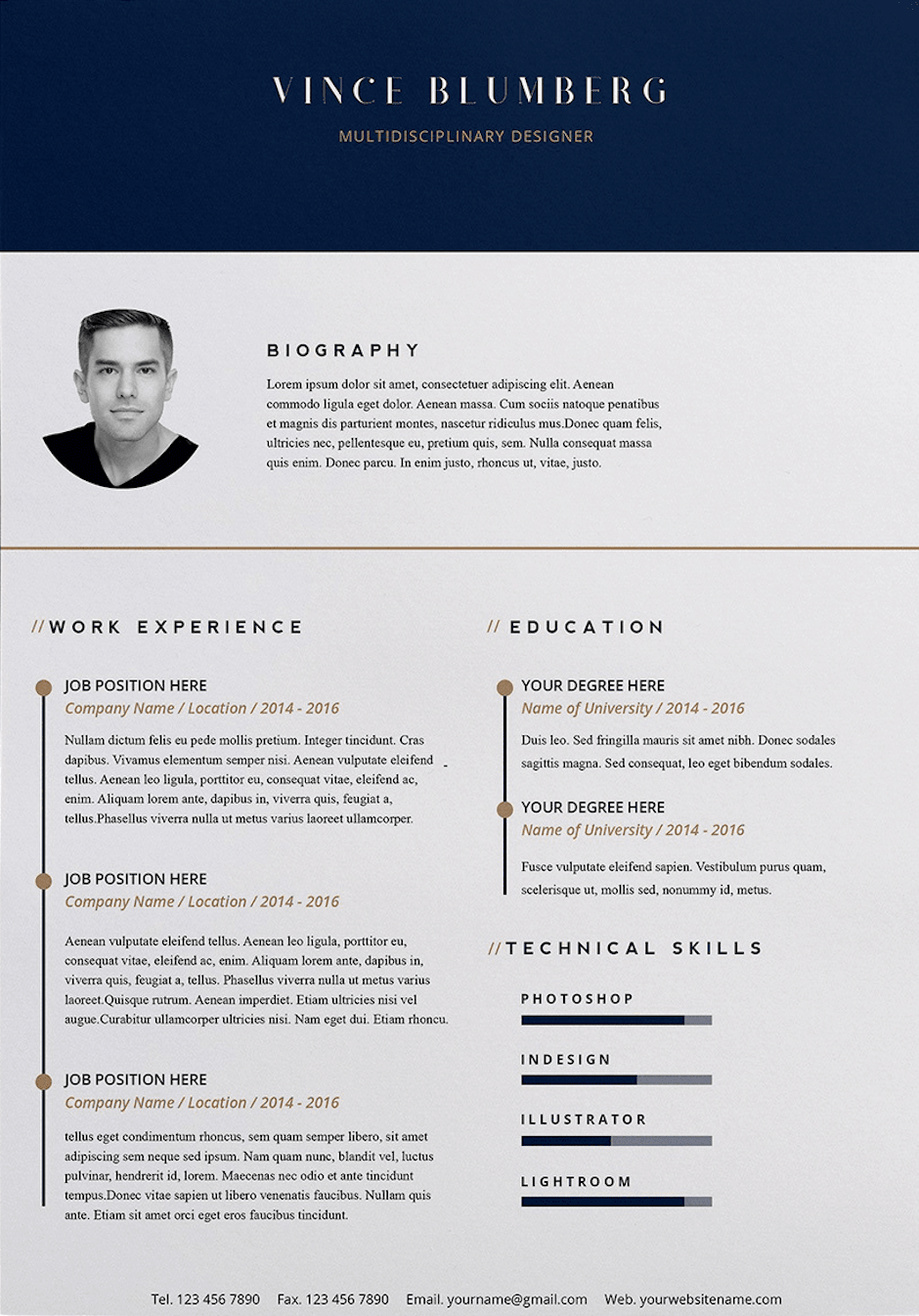 word resume template by opuent studio